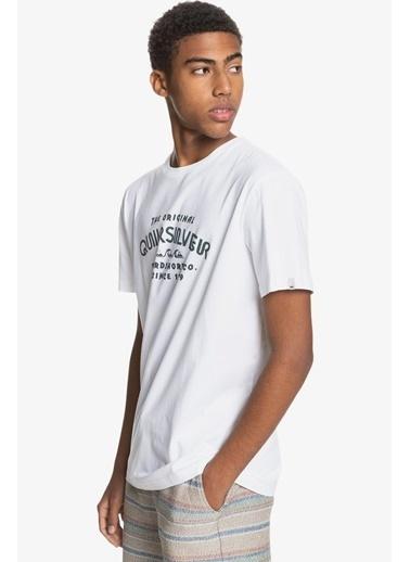Quiksilver Tişört Wider Mile Eqyzt06328-Wbb0 Beyaz